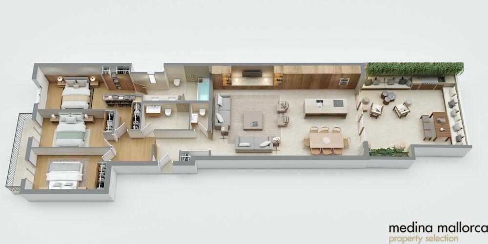 apartamento con terraza centro de palma medina mallorca 7 2
