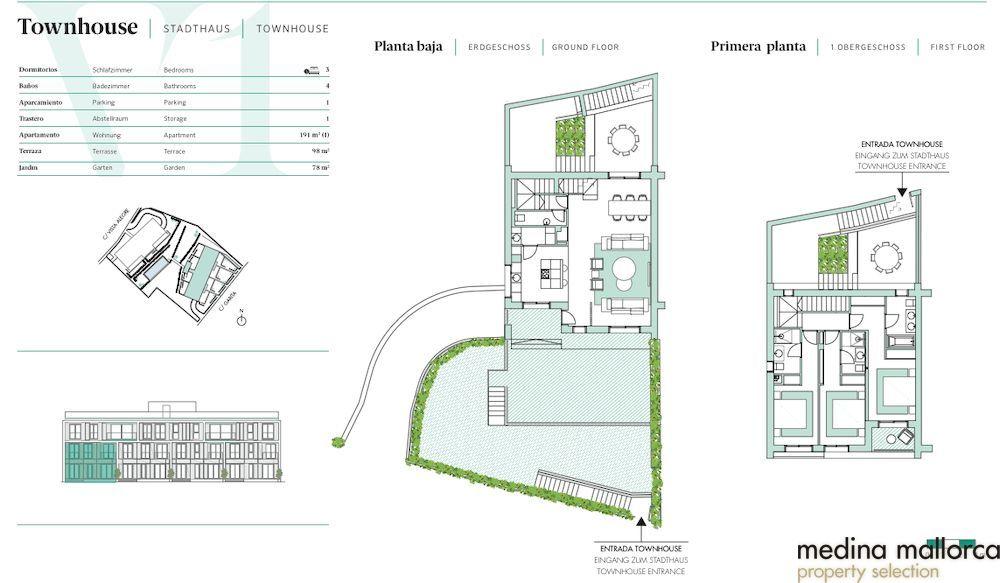Moderno apartamento con terraza jardin Bonanova medina mallorca 3